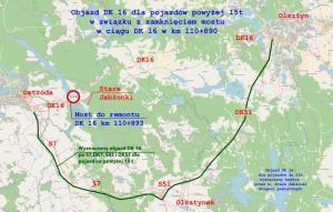 Na rok zamkną stary most na DK16 w Starych Jabłonkach, powstanie nowy