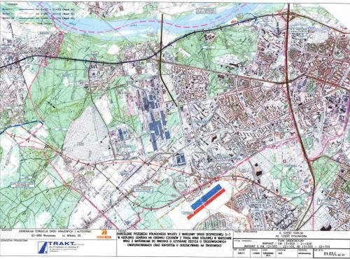 Droga ekspresowa S7 jako wylotówka z Warszawy - mapa przebiegu