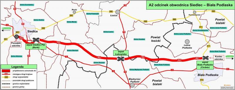 Autostrada A2 Siedlce Biala Podlaska Mapa Przebiegu Mapy I