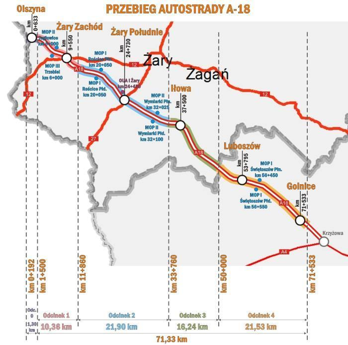 Autostrada A18 Olszyna - Żary doczeka się rozbudowy