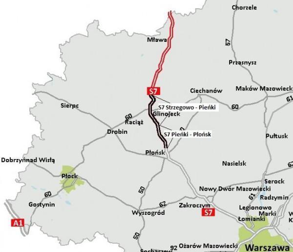 Budowa drogi ekspresowej S7 Strzegowo - Pieńki - Płońsk