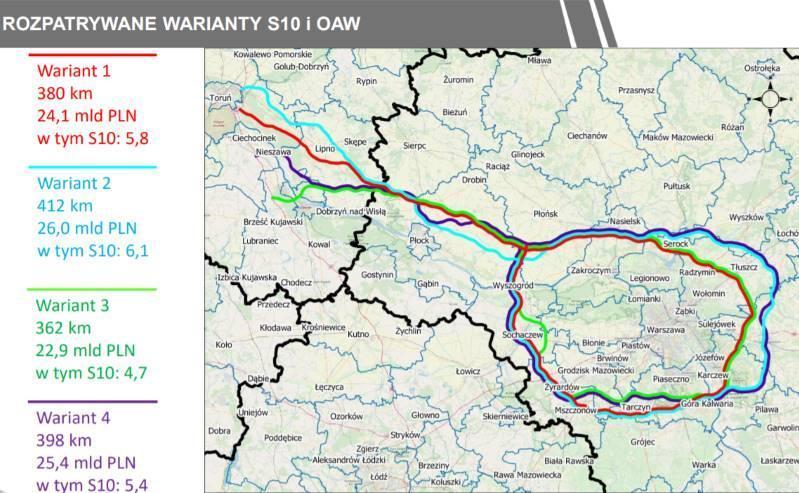 Droga ekspresowa S10 Toruń - Warszawa i obwodnica aglomeracji Warszawskiej