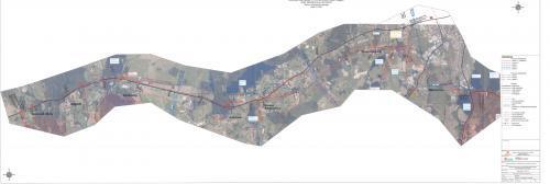 Mapa wariantów drogi S16 ekspresowej Borki Wielkie - Mrągowo