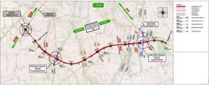 Mapa drogi ekspresowej S19 Dąbrowica - Konopnica. Obwodnica Lublina