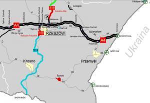 Droga ekspresowa S19 Rzeszów - Babica - Barwinek. Mapa planowanego do budowy odcinka