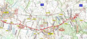 Droga ekspresowa S5 Kościan - Radomicko. Mapa przebiegu odcinka z obwodnicą Śmigla