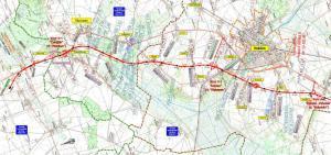 Mapa drogi ekspresowej S5 Wronczyn - Kościan wraz z obwodnicą Kościana