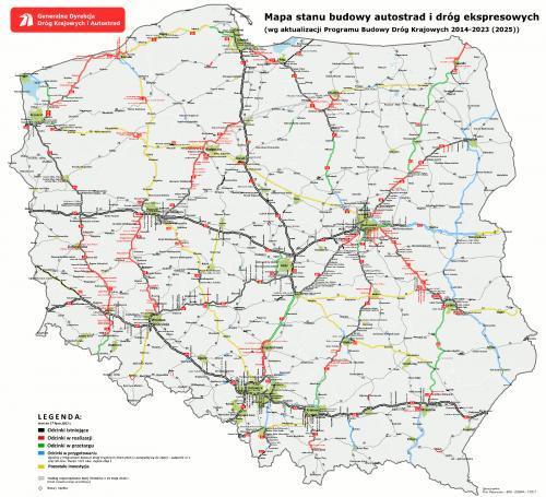 Mapa Drog Ktore Powstana W Ramach Rozszerzonego Pkbd 2014 2023