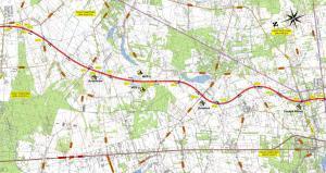 Mapa drogi S7 Warszawa - Grójec. Odcinek Lesznowola - Tarczyn