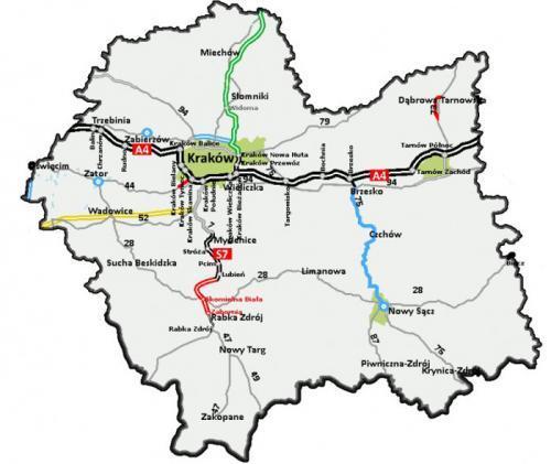 Powstanie 220 km nowych dróg w Małopolsce, to m.in. S7, S52 i obwodnice