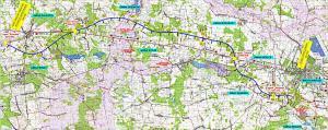 Autostrada A2 Mińsk Mazowiecki - Siedlce - mapa przebiegu trasy