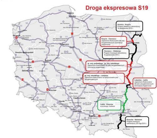 Plany i stan prac dla drogi ekspresowej S19 i via Carpatia