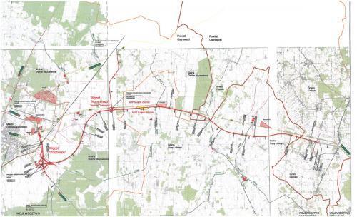 Droga ekspresowa S61 - mapa odcinka Podborze - Śniadowo