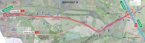Nowe drogi do Szczecina - mapa obwodnicy Warzymic i Przecławia