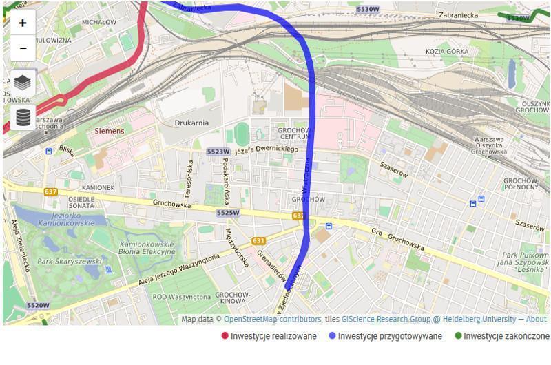 Odcinek obwodnicy śródmiejskiej Warszawy Wiatraczna - Radzymińska