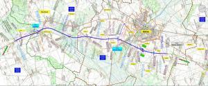Droga ekspresowa S5 Wronczyn - Kościan - mapa przebiegu