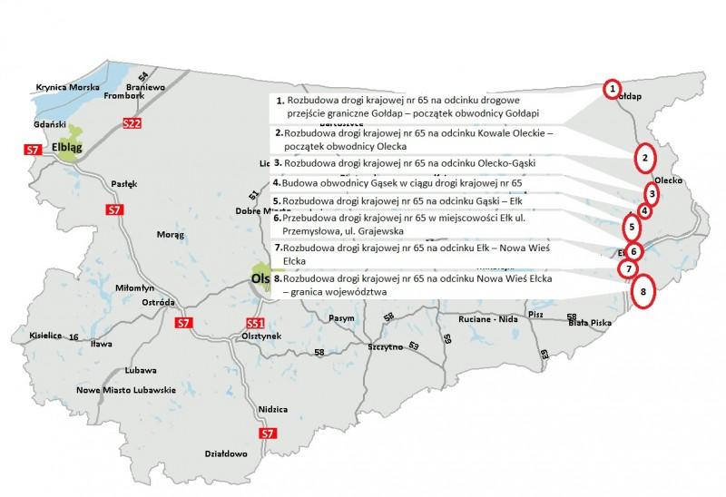 Warmińsko-mazurskie: Ponad 59 km DK65 będzie rozbudowane. Powstanie obwodnica Gąsek