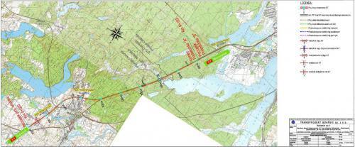 Mapa drogi ekspresowej S7 Miłomłyn - Ostróda w ciągu S7 Miłomłyn - Olsztynek
