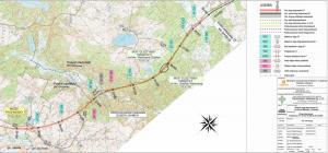 Mapa S7 Rychnowo - Olsztynek w ciągu drogi ekspresowej S7 Miłomłyn - Olsztynek