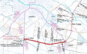 Obwodnica Drezdenka - mapa przebiegu II odcinka