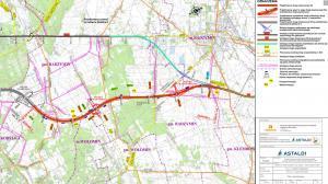 Obwodnica Marek w ciągu drogi ekspresowej S8. Mapa odcinka Kobyłka - Radzymin