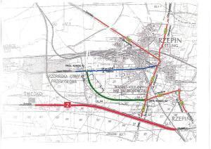 Obwodnica Rzepina w ciągu DW139 - mapa przebiegu