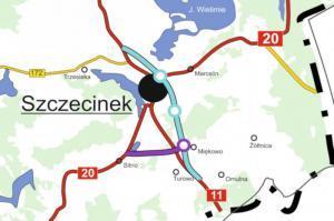 Obwodnica Szczecinka: Nowa DK20 połączy się z S11 i wyprowadzi ruch z miasta