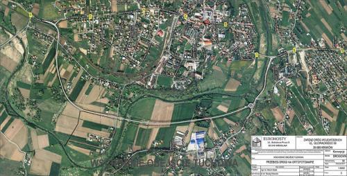 Mapa obwodnicy Tuchowa na DW997 w Małopolsce