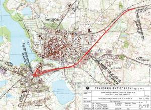 Obwodnica Myśliborza na DK26 - mapa przebiegu