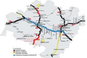 Budowa autostrady A4 na Dolnym Śląsku: Ruszył przetarg, trzy koncepcje do analizy