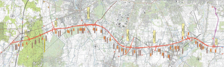 Droga ekspresowa S14 - zachodnia obwodnica Łodzi. Mapa ostatecznego wariantu