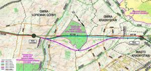 S17 Piaski – Hrebenne. Mapy orientacyjne przebiegu drogi ekspresowej