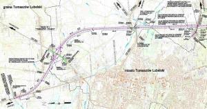 Droga S17. Obwodnica Tomaszowa Lubelskiego - mapy przebiegu