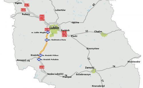 Mapa Drogi Ekspresowej S19 Odcinki Do Realizacji Lublin Krasnik