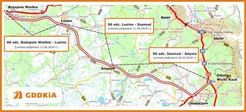 Mapa Przebiegu Trasy Kaszubskiej Droga Ekspresowa S6 Bozepole