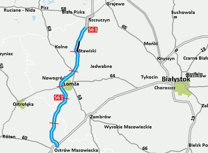 Droga ekspresowa S61 Kolno - Szczuczyn