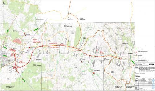 Mapa drogi ekspresowej S61: odcinek Podborze - Śniadowo