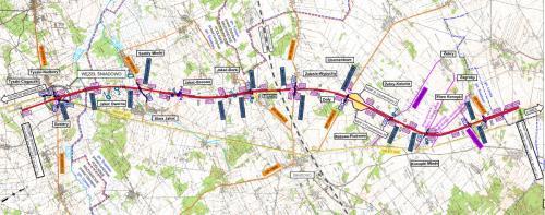 Mapa drogi ekspresowej S61: odcinek Śniadowo - Łomża