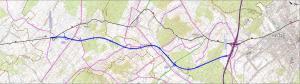 Mapa drogi ekspresowej S74 na odcinku Przełom/Mniów - Kielce