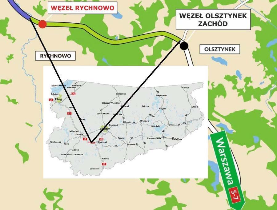 Droga ekspresowa S7 - odcinek Rychnowo - Olsztynek oddany do ruchu