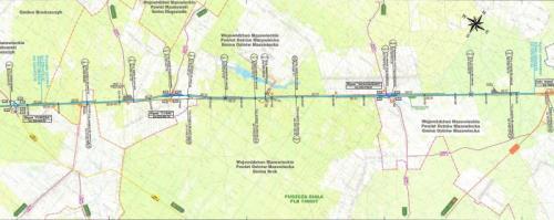 Droga ekspresowa S8 Poręba - Ostrów Mazowiecka - mapa przebiegu