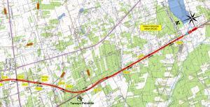 Mapa drogi S7 Warszawa - Grójec. Odcinek Tarczyn - Grójec