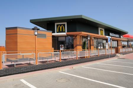 McDonalds Małdyty MOP na drodze S7