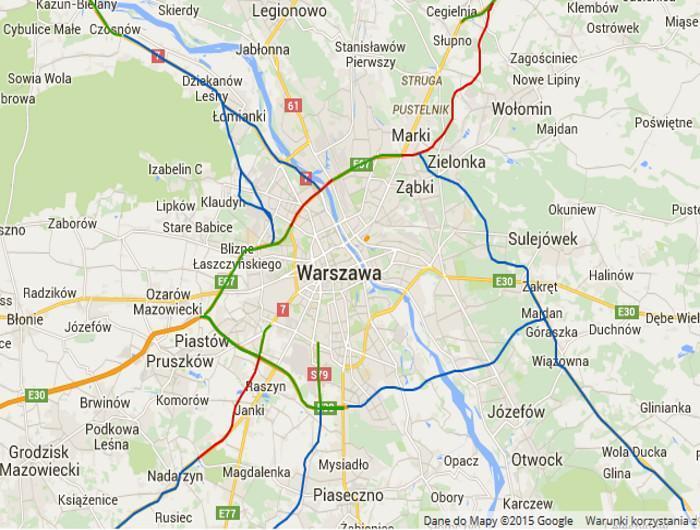 Ekspresowa obwodnica Warszawy w ciągu dróg S2, S8, S7 i S17