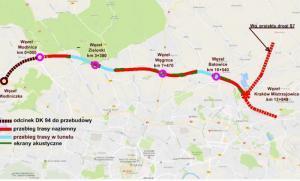 Droga ekspresowa S52 na odcinku Północnej Obwodnicy Krakowa