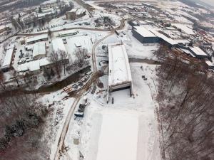 Zdjęcia z budowy obwodnicy Sanoka w ciągu DK28 - zima 2018 r.