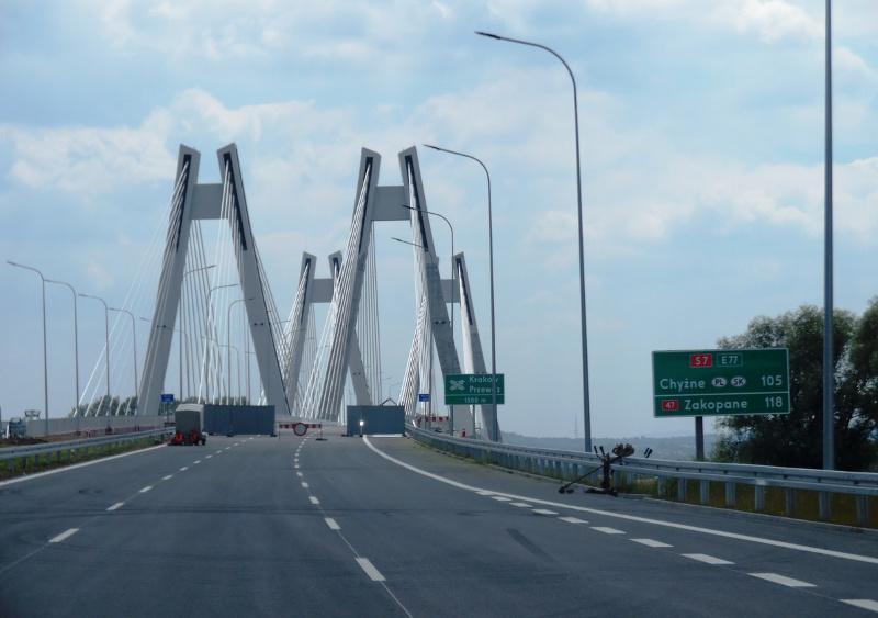 Droga ekspresowa S7 - wschodnia obwodnica Krakowa z nowym mostem przez Wisłę