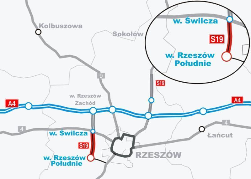 Obwodnice Rzeszowa - zachodnia w ciągu S19 i północna w ciągu A4