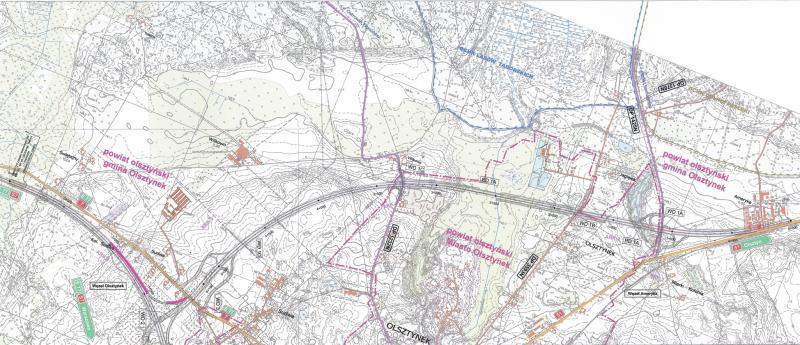Mapa obwodnicy Olsztynka