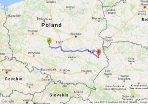 Trasa Błaszki - Krasnystaw